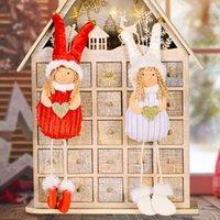 Christmas Decorations Angel Dolls Pendant Xmas Tree Hanging Ornaments Handmade Plush Toy New Year Gift GWD10305