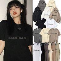 2021 Herren Womens Outdoor Hoodies T-Shirts Freizeit Mode Reflektierende Schrift Kurzarm Trends Angst vor Gott Nebel Essentials Frauen Designer Männer Weste