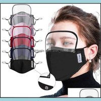 Designer Masks Housekee Organization Home & Garden2 In 1 With Eye Dustproof Washable Cotton Vae Cycling Reusable Mask Protective Face Shield