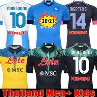 NAPOLI 20 21 NAPOLI SSC Soccer Jersey Uomo + Bambini Speical Maradona quarta hirving lozano Manolas Insigne hamsik 2021 Koulibaly Kit Mertens Quarta camicia da calcio