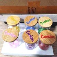 쿠키 유리 항공기와 유리 항아리 뚜껑 담배 향신료 컨테이너 향신료 커피 콩 사탕 견과류 허브