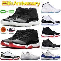 Düşük efsane mavi 11'ler Basketbol ayakkabı erkekler Kadınlar Yüksek atletik ayakkabılar beyaz bordo 45 23 uzay sıkışması Koşu 36-47 ruhi yetiştirilen