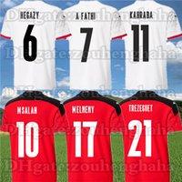 Versione del giocatore Egitto Jersey di calcio 2021 22 Casa Red Away White Trezeguet Kahraba A. Hegazi Ramadan camicie da footbal