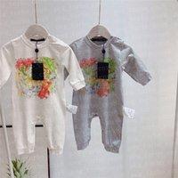 Lettre classique Bébé Baby Rompes Jumpsuits Soft Confortable Enfants OneSies Vêtements Enfant Filles Garçons Romper Manchon longue