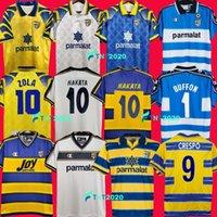 99 00 Parma Calcio Jerseys 1913 Ретро Буйфон 1995 1996 1998 1999 2000 2002 2003 Palma Soccer Jersey 95 96 97 98 01 02 03 Урожай футбольные наборы футболки Стойка