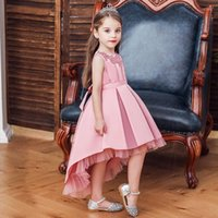 Girl's Dresses Kids Girl Cake Tutu Flower Dress Children Party Wedding Formal For Girls Princess Pink Red Year Gift Arrival 2021