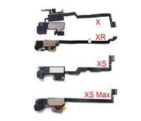 10 adet / grup iPhone X XR XS Max 11 Pro Kulaklık Kulak Parça Hoparlör Flex Kablo Yakınlık Sensörü Ile Ses Alıcısı