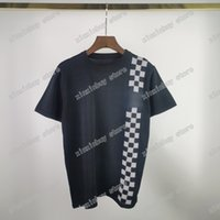21ss Tasarımcılar Tee Pastel Sezon Naif Lattice Jakarlı Örgü Erkek Bayan T Shirt İtfaiyeci Suluboya Adam Paris Moda T-shirt Kısa Kollu Lüks Tişörtleri Siyah