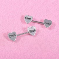 Shape Love Heart Nipple Ring Sexy Allergy Free Stainless Steel Breast Tongue Rings Bar Body Piercing Jewelry for Women Gift Will and Sandy