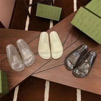 Mode Frauen Hausschuhe Transparente Kristall Sandalen Wohnungen Flip Flops Fluoreszierende Glühen Sandale Gummi Slipper Sommer Outdoor Beach Folien