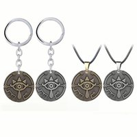 Pendant Necklaces Free Vintage Bronze Silver Color 35mm Evil Eye Pendants Necklace Shiekhan Eyes Lucky Jewelry Accessories
