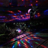 Solar Garden Projection Light Rotating Ball Dual LED Prato Lampada RGB Luci per esterni Lampade per vacanze