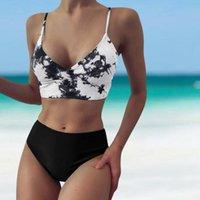 Women's Swimwear Sexy High Waist Bikini Set Tie Dye Women Bikinis 2021 Mujer Summer Bathing Suit Micro Push Up Swimsuit