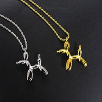 Necklaces For Womens Pendants Balloon Dogs Stainless Steel Chain Couple Fashion Gold Necklace Jewellery 2021 Wholesale Pendant