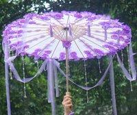 Şemsiye Çocuk Boyama Çünkü Püskül Sihirli Şerit HAN Suit Ile Şemsiye Yağmur Kadın Sahne Mor Çiçek Paraguas Paraplu