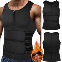 Men's Body Shapers Neoprene Zipper Waist Trainer Vest Tank Top Abdomen Trimmer Slimming Shaper Corset With Two Belt Sweat Sauna Shapewear