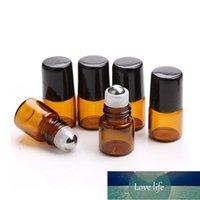 DHL Mini Esansiyel Yağ Cam Şişeleri 1 ml / 2 ml Amber Rulo Paslanmaz Çelik Rulo Topu Seyahat Yağı Sıvı Küçük