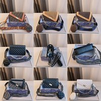 2021 الفاخرة الكتف واحد مائل الصليب حقيبة المرأة أزياء العلامة التجارية مصمم أكياس سلسلة 2 * 8 * 15 سنتيمتر