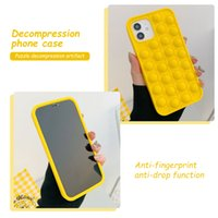 Entertainmentn Push Pop Bubble cell-Phone Cases Silicone Fidget Sensory for iPhone 6 7 8 Plus X XS XR 11 12 pro Max Relief Stress Anti-stress back cover shell Phone Case
