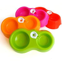 Пластиковый кормушка для домашних животных Двойной порт Автоматическая подавательная чаша для питания воды для питания.