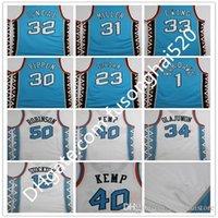 Leste 1996 Tudo Retro Vintage Jersey Jogue Back Basketball Jersey Pippen 23 Michael O Neal Kemp Hill Retro Branco Camisas 96 Tudo