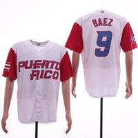 Mens Porto Riko Takımı 2017 Dünya Beyzbol Klasik 12 Francisco Lindor 1 Carlos Correa 9 Javier Baez 21 Clemente Beyzbol Formaları