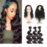 9A Indian Body Wave 360 Round Frontal Closure Natural Color ...