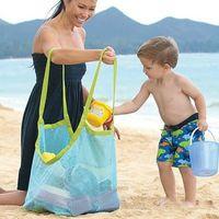 Çocuk Kum Uzakta Protable Örgü Çanta Çocuklar Plaj Oyuncaklar Giyim Havlu Bebek Oyuncak Depolama Sundries Çanta Kadın Kozmetik Makyaj