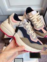 Yüksek Kaliteli Tasarımcı Sneakers Bej Erkek Kadın Eğitmenler Vintage Luxurys Chaussures Bayanlar Spor Ayakkabı Moda Rahat Sneaker