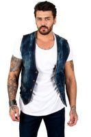 Men's Vests DeepSEA Male Metal Button Jeans Cepken Vest Short Waist Four Seasons Casual 2100449