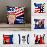 7Colors linen cushion cover trump 2024 throw pillow case US flag independence day gifts party home sofa car pillowcases pillowcase pillowslip