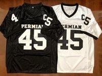 Schiff von uns Boobie Miles # 45 Permian Football Jerseys Movie Friday Night Lights Nähte Schwarz Weiß S-3XL Hohe Qualität