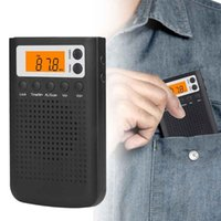Radio FM AM With Speaker Battery Powered Electric Stereo ABS Home LCD Display Digital Mini Portable Gift Tuning Pocket