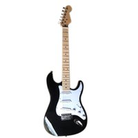 New Arrival 6 Strings Black Electric Guitar with SSS Pickups,Maple Fretboard