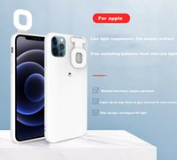 Tpu+PC Smart cellphone Cases Ring Flash Onlive Show Vlog Selfie LED Light-fillingFor iPhone 1112 Pro max