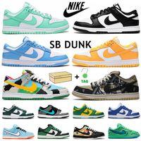 Nike Dunk Low University Blue SB Dunks Correndo Sapatos Preto Branco Chunky Dunky Photo Pó Verde Fulgor Laranja Urso Esportes Homens Mulheres Sneakers