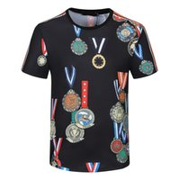 Mens T-shirt 2021 Sommer Polo Hemden Männer Frauen Brief Drucken Kurzarm Mode Mann Stylist Beiläufige Rundhals-T-Shirts Größe M-3XL