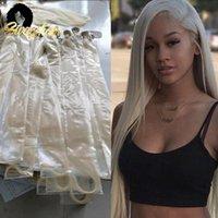 Human Hair Bulks Straight Blonde Swag 613 Bundles 5PCS 10PCS Soft Brazilian Weft 22 24 26 28 30 Inches Remy Double