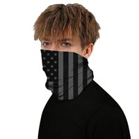 Party Masks Multiway Outdoor Bandana Women 3D American Flag Printing Climbing Hiking Cycling Fishing Windproof Protection Halloween Scarf