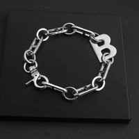 Tennis 2021 Letter B Hipster Hip Hop Exaggerated Thick Chain Bracelet Accessories Personality Simple Cool Fashion