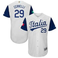 NCAA Team Italia 2017 World Baseball Classic Jerseys Italy 29 Francisco Cervelli Jersey Men Color White For Sport Fans Excellent Quality
