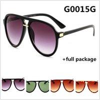 Novo Designer 0015 Marca óculos de sol moda homens e mulheres casais óculos Vermelho Verde 4 cores com pacote completo