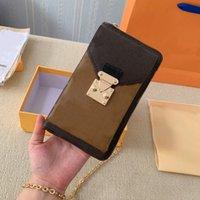 Nuovi sacchetti di lusso Borse Borse Borse Donne Borsa a tracolla Messenger Coin Borsa Portafogli per cellulari in pelle di alta qualità 6.7inch Crossbody con scatola DustBag