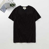 Гу волосы стилист друзья мужские женские дизайнер футболки высококачественные буквы печати черно-белая одежда S-XXL G3320