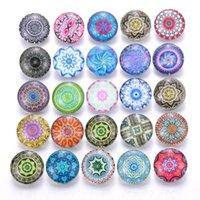 Bracelets de charme 10 pcs / lot gerin snap bijoux mixte beau motif exotique boutons 18mm pour bricolage bracelet