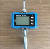 1000KG 1Ton Mini Crane Scale Portable Digital Stainless Steel Hook Hanging Scales Loop Weighing Balance Green LCD Backlight
