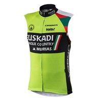 Мужская велосипедная джерси велосипедная рубашка летом Euskadi Team без рукавов велосипед жилет цикла топы быстрые сухие мфб гоночная одежда Maillot Ciclismo Y21032910