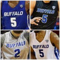 NCAA College Buffalo Basketball Jersey 1 Montell MCRAE 2 Jeremy Harris 2 Antwain Johnson 3 Jayvon Graves Custom genäht