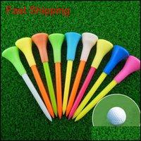 Sports en plein air Tees en plastique multi-8Dot3cm Coussin de caoutchouc durable Top T-shirt Accessoires de golf de couleur aléatoire Drop Drop Drop 2021 HLIJF