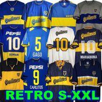 84 95 96 97 98 Boca Juniors 레트로 축구 유니폼 Maradona Roman Caniggia riquelme 1997 2002 팔레르모 축구 셔츠 Maillot Camiseta de Futbol 99 00 01 02 03 04 05 06 1981